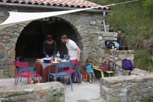Olivier et Christine pour le dernier repas du séjour
