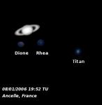 Saturne et satellites